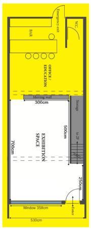 展覽空間平面圖