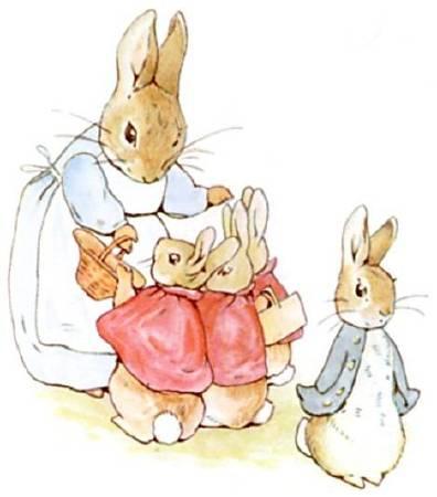 Beatrix Potter,《Peter-rabbit》,1911。圖/取自wikiart。