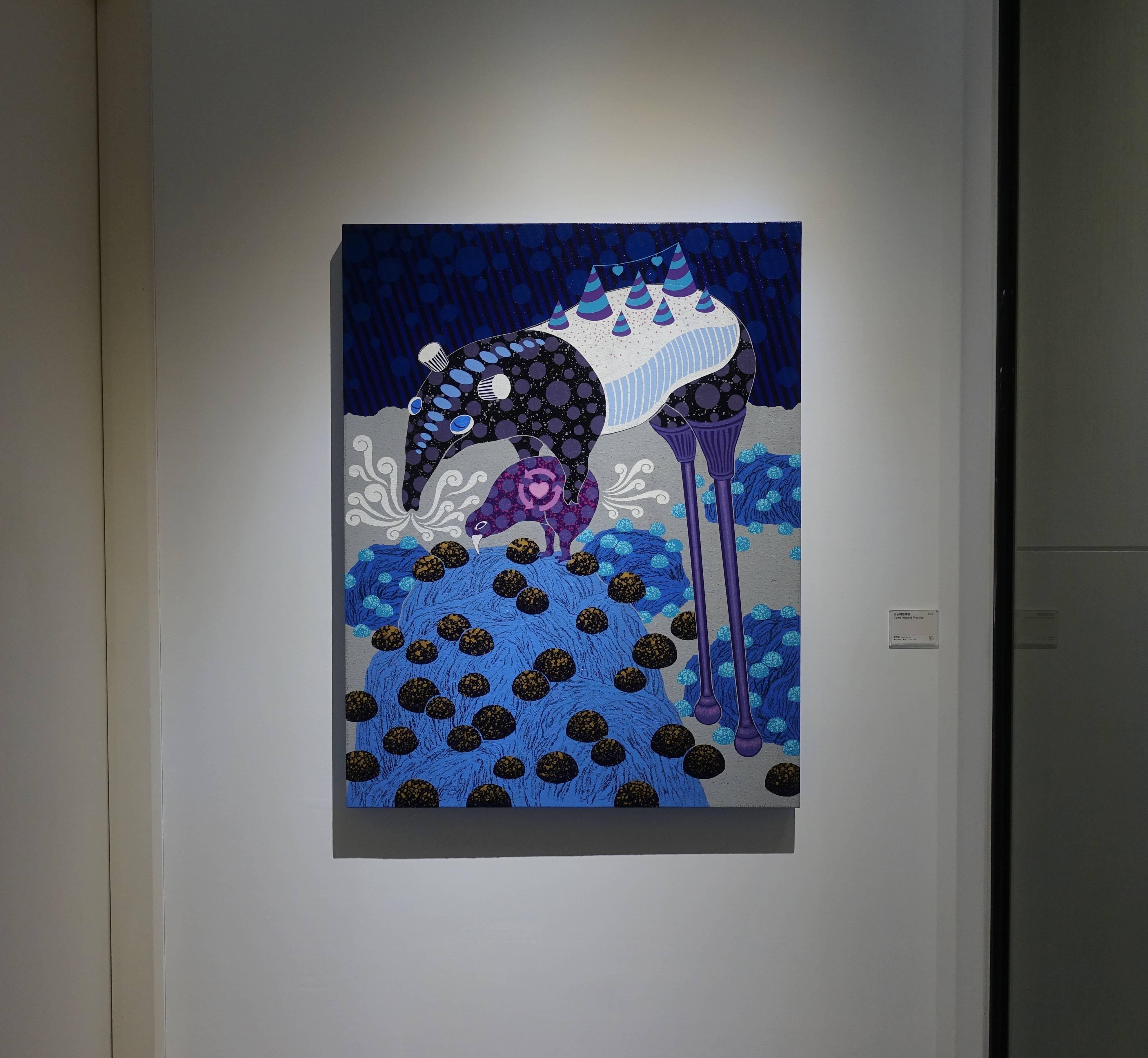 廖堉安,《回心轉意練習Come Around Practice》,壓克力、畫布,117x91 cm,2018。