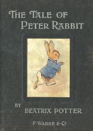 《The Tale of Peter Rabbit》第一版封面。圖/取自wikimedia。