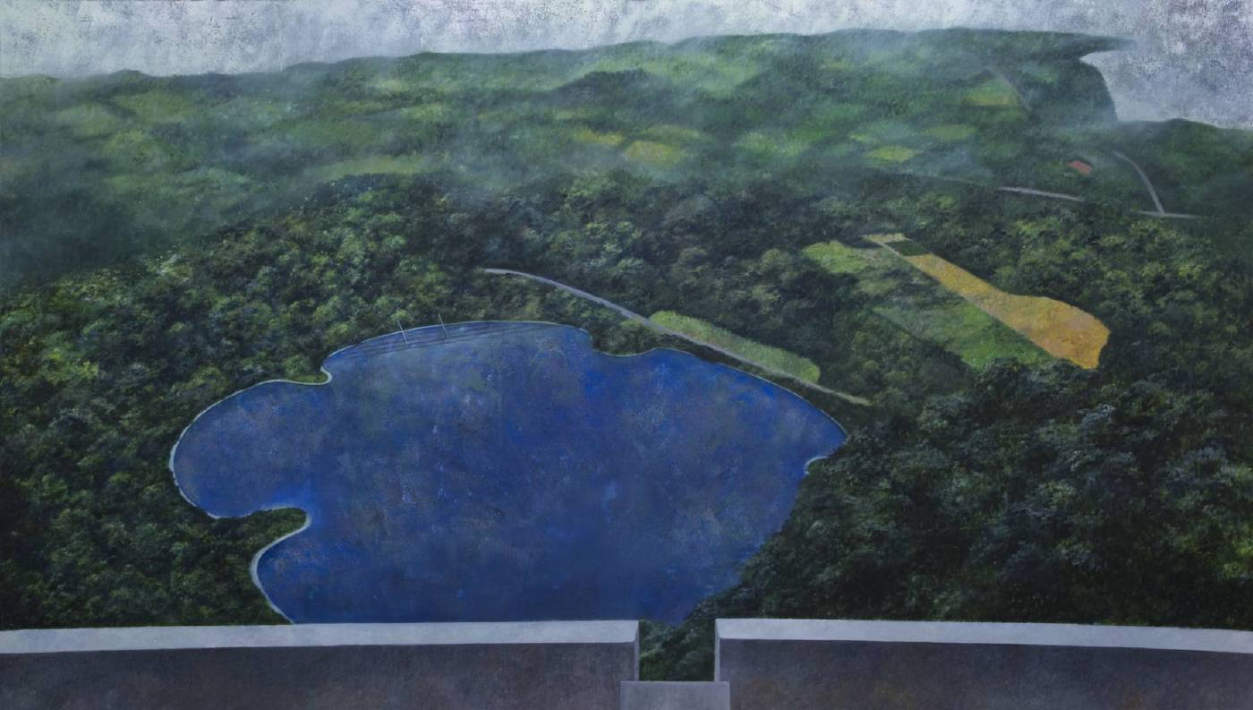 林亮呈-記憶地圖#2-油畫-94x165 cm-2017