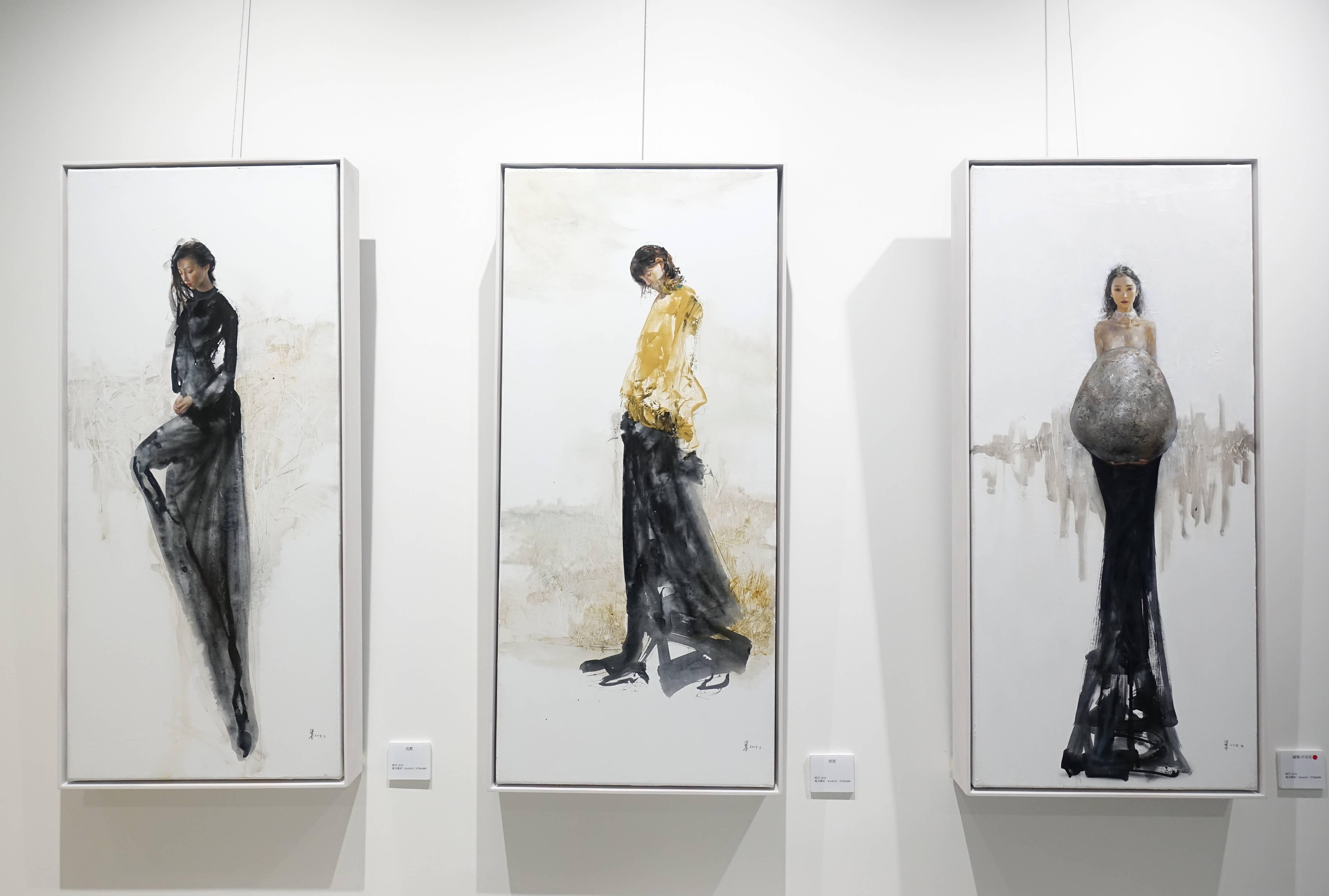 梁月,《沈默、曾經、誠實:不存在》,複合媒材,2018。