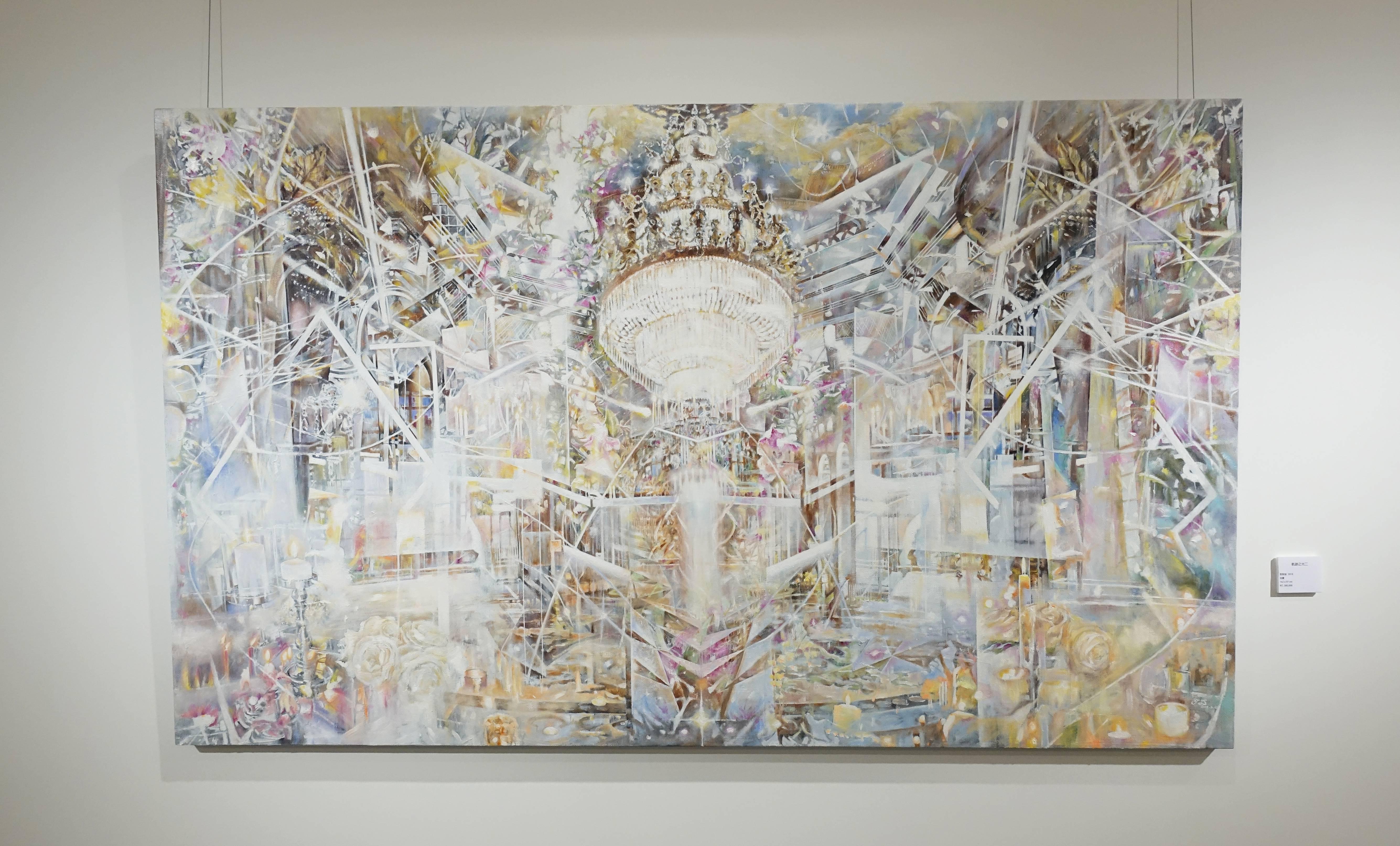 張絜廸,《軌跡之光二》,油畫,2018。