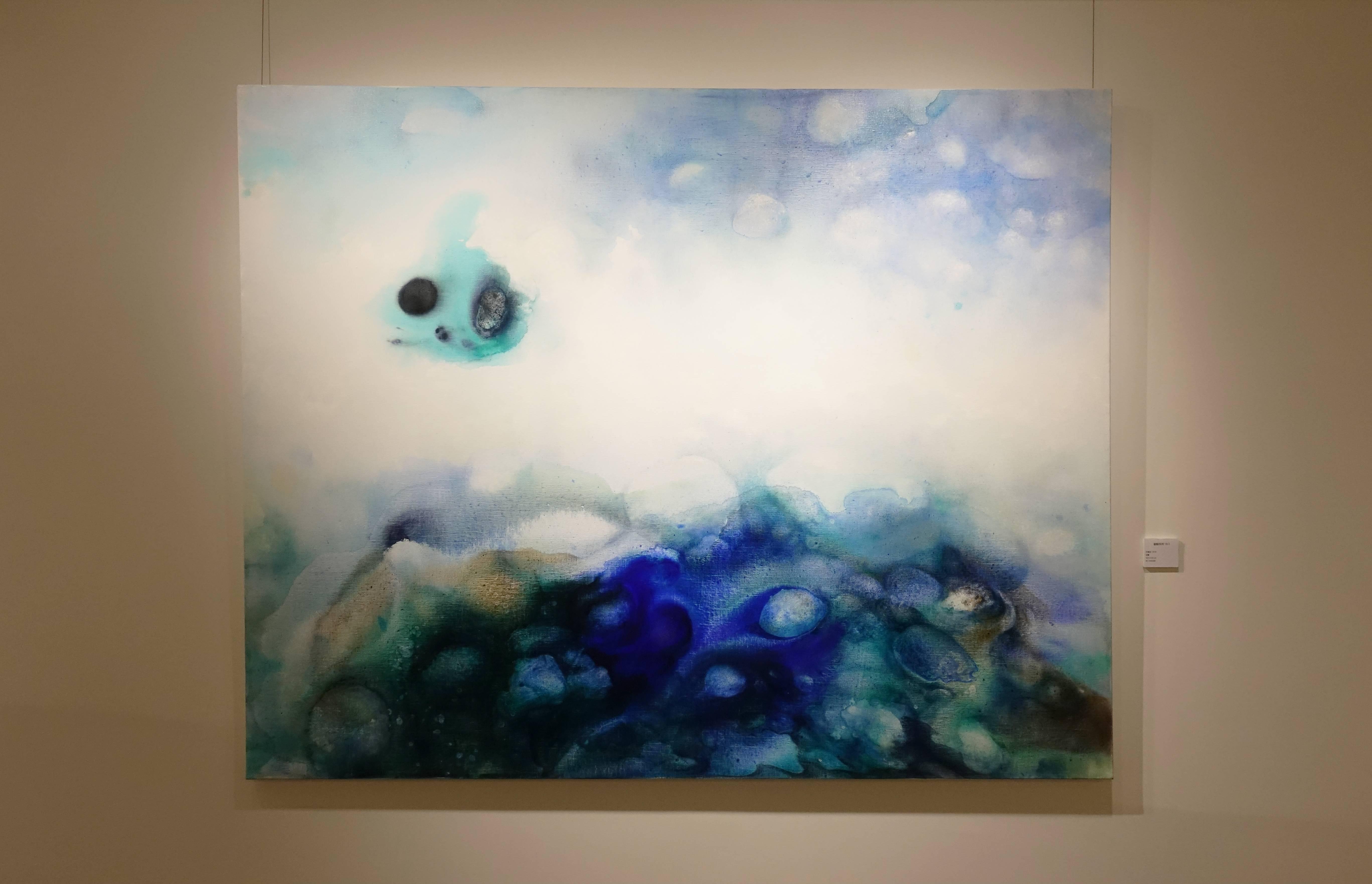 洪德忠,《動靜系列19-1》,油畫,2018。