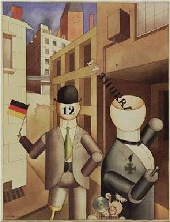 George Grosz, Republican Automatons, 1920, watercolor on paper, Museum of Modern Art, New York.
