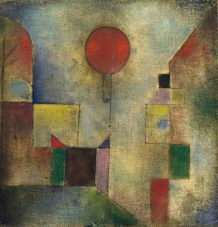 Red Balloon, 1922, oil on muslin primed with chalk, 31.8 x 31.1 cm. The Solomon R. Guggenheim Museum, New York.