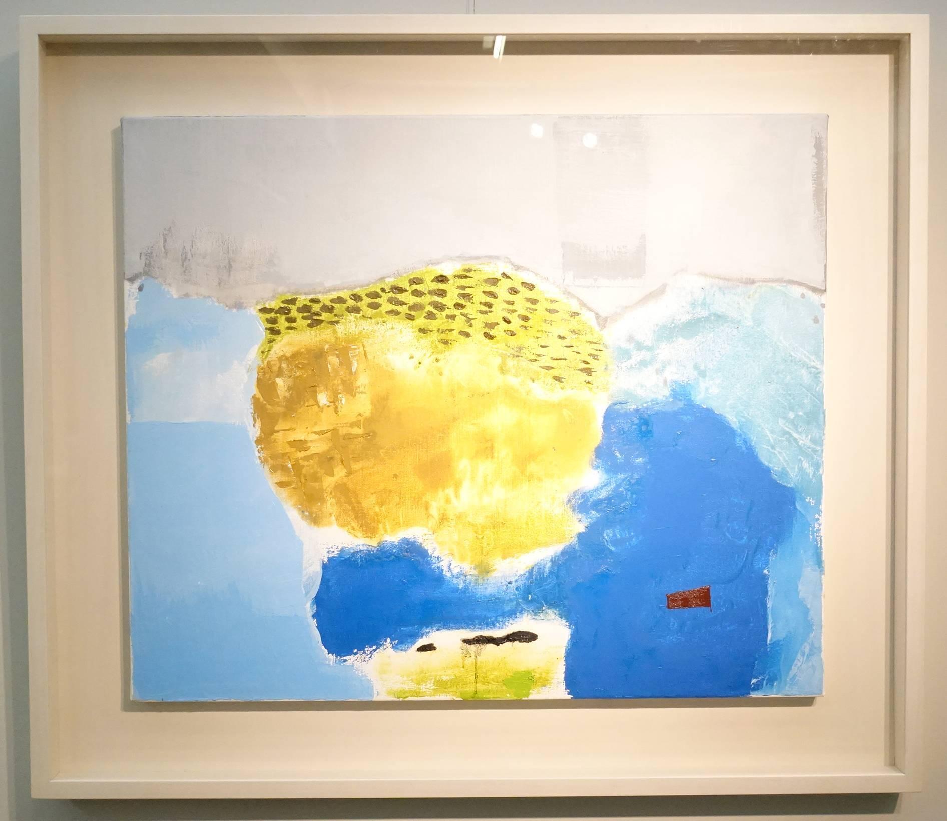 葉竹盛,石頭13,油彩、畫布,2015年。
