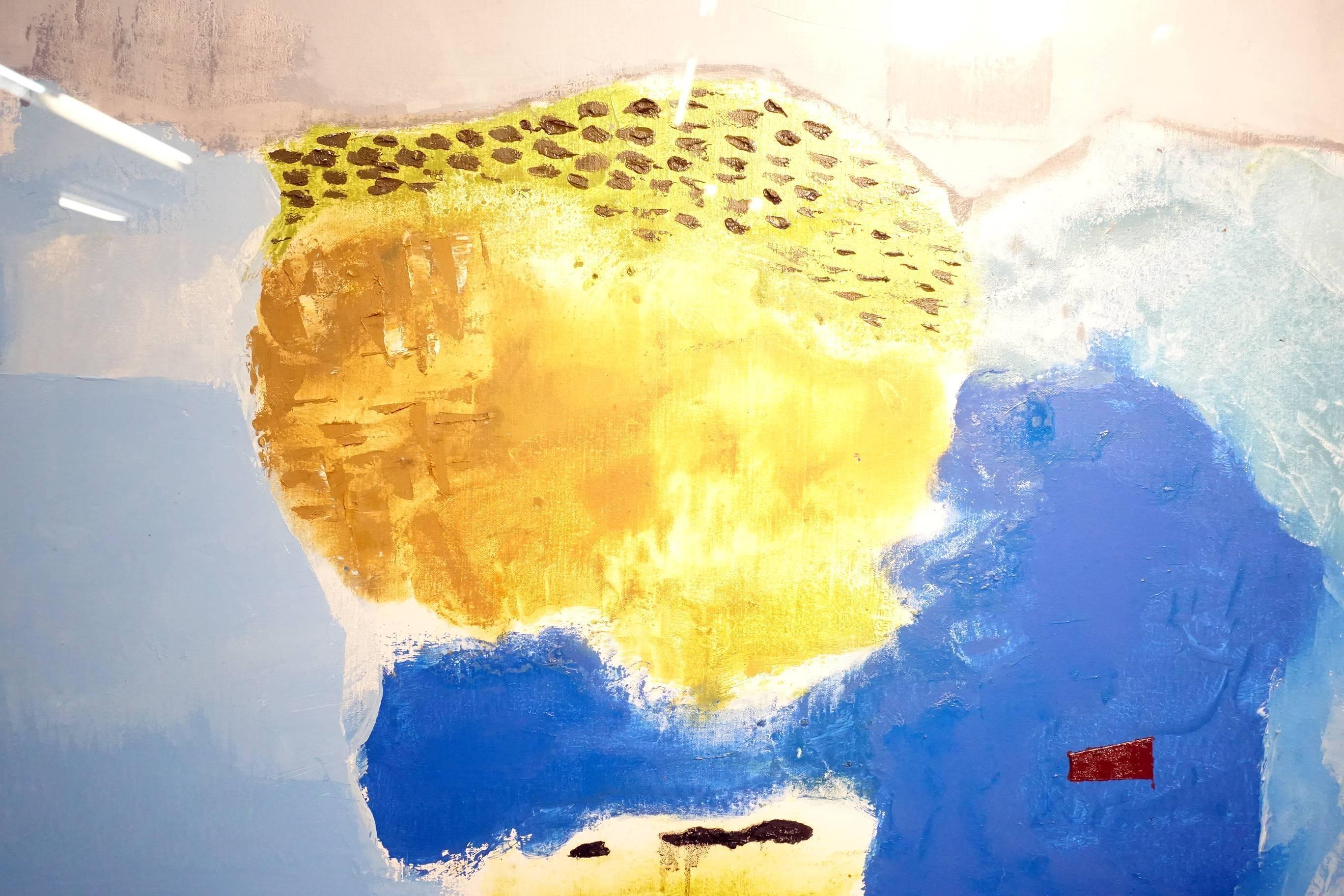 葉竹盛,石頭13(局部),油彩、畫布,2015年。