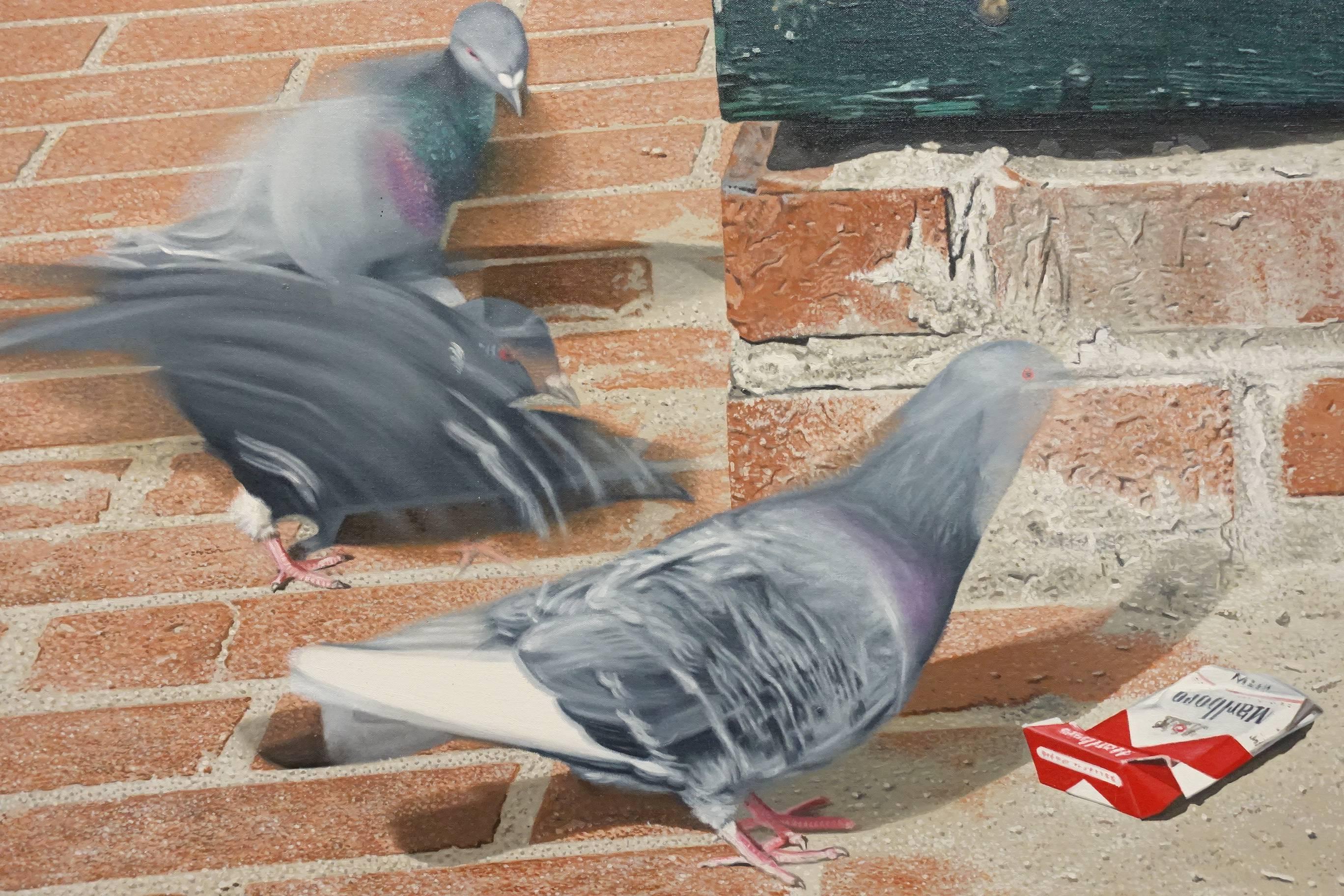 夏陽,都市之鳥#4(局部),1989年。