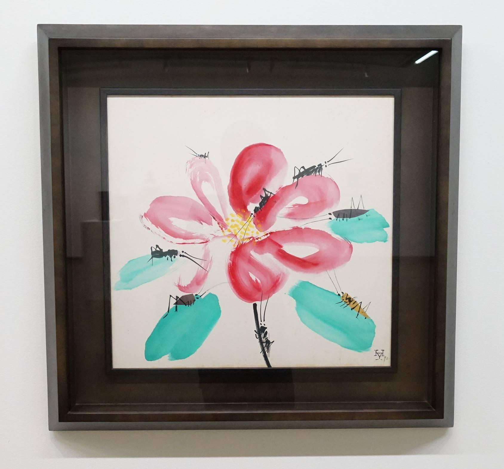 夏陽,花和蟲,1992年,