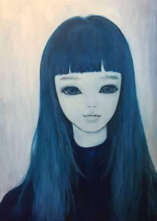 Blueness 名取 藍 33x24cm Acrylic on canvas