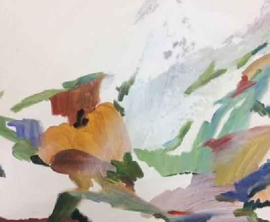 許佳琪作品《碎片》,油畫、壓克力,37.7x45cm,2018