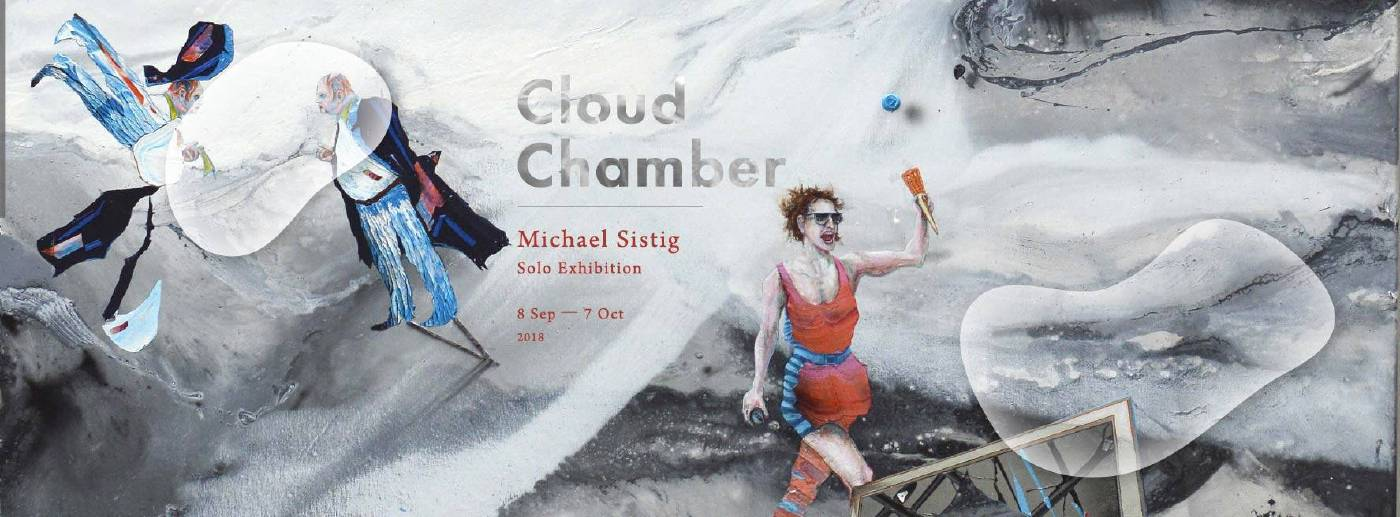 Michael Sistig | Cloud Chamber 2 - Catching Cup | 175 x 155 cm, Mixed technique and styrofoam print on canvas | 2018