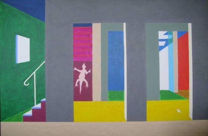 靈光系列–2, 97x130cm, 複合媒材, 2012