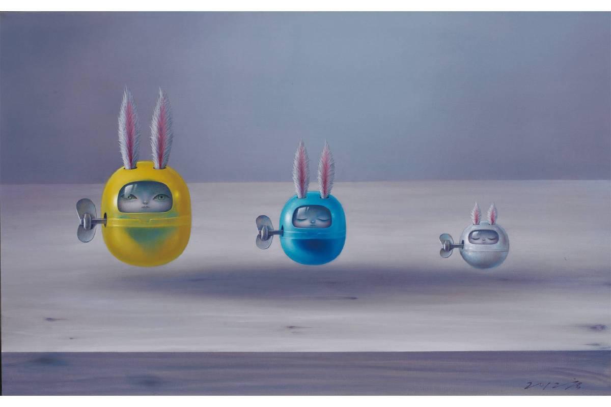 唐唐 │ 小宇宙.油畫、畫布 50 x 79 cm,2012