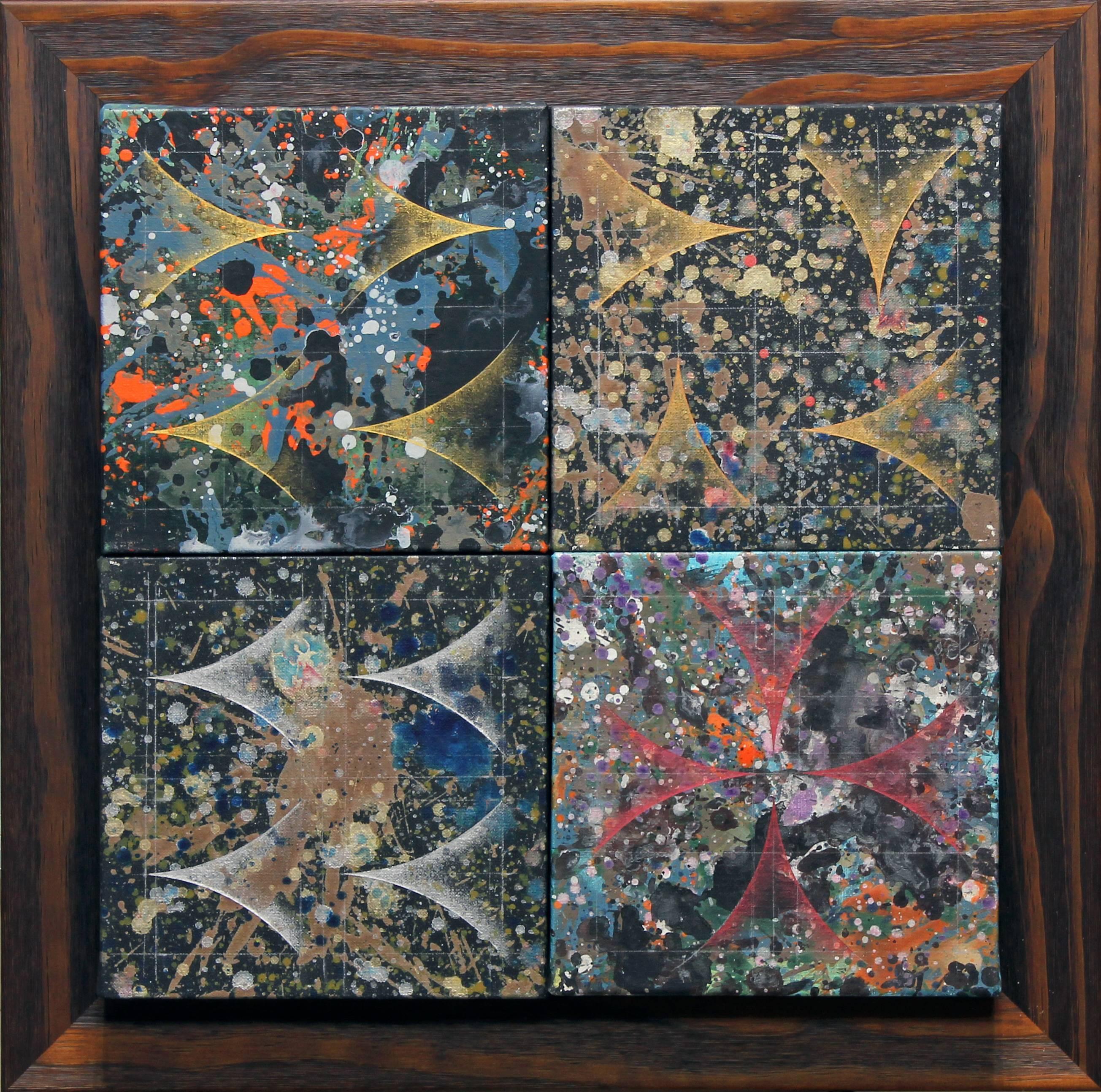 楊仁明|構成|2010|壓克力、油彩|40x40cm