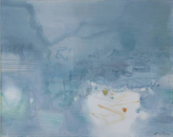 朱德群 願喜悅常在 1984 油彩 80 x 65 cm (25F)