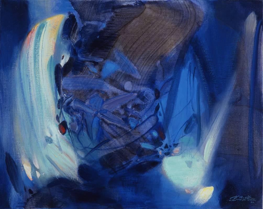 朱德群 奔流的彩虹 1993 油彩 80 x 65 cm (25F)