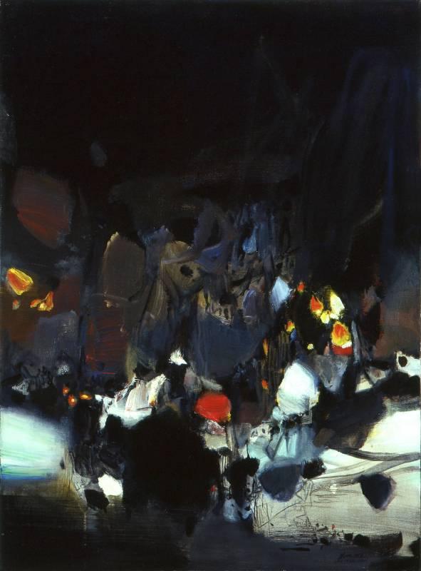 朱德群 NO.473 1974 油彩 80 x 60 cm