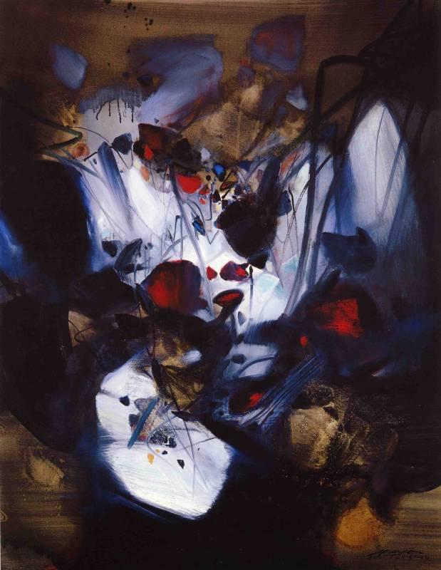 朱德群 柳暗花明 1991 油彩 116.5 x 91 cm