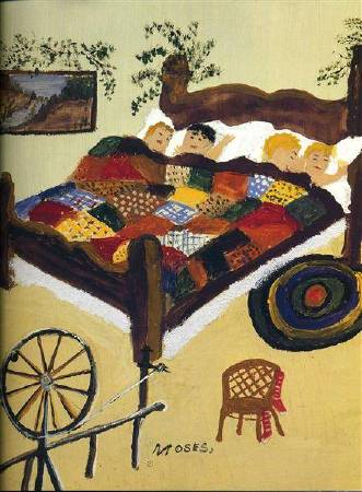Grandma Moses,《Waiting for Christmas》,1960
