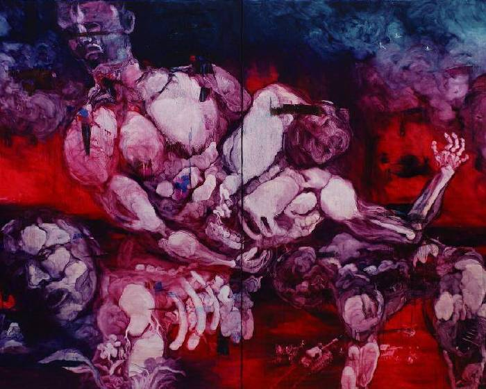 印象畫廊【2010常陵個展】五花肉系列最終章-肉宗教