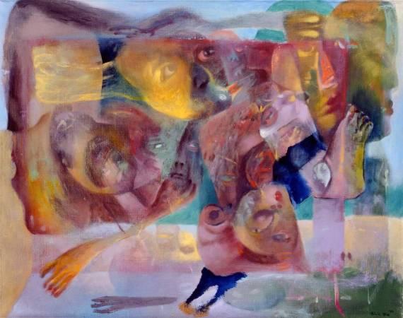 傅慶豊|信天翁|1994|油彩|73x92.5cm