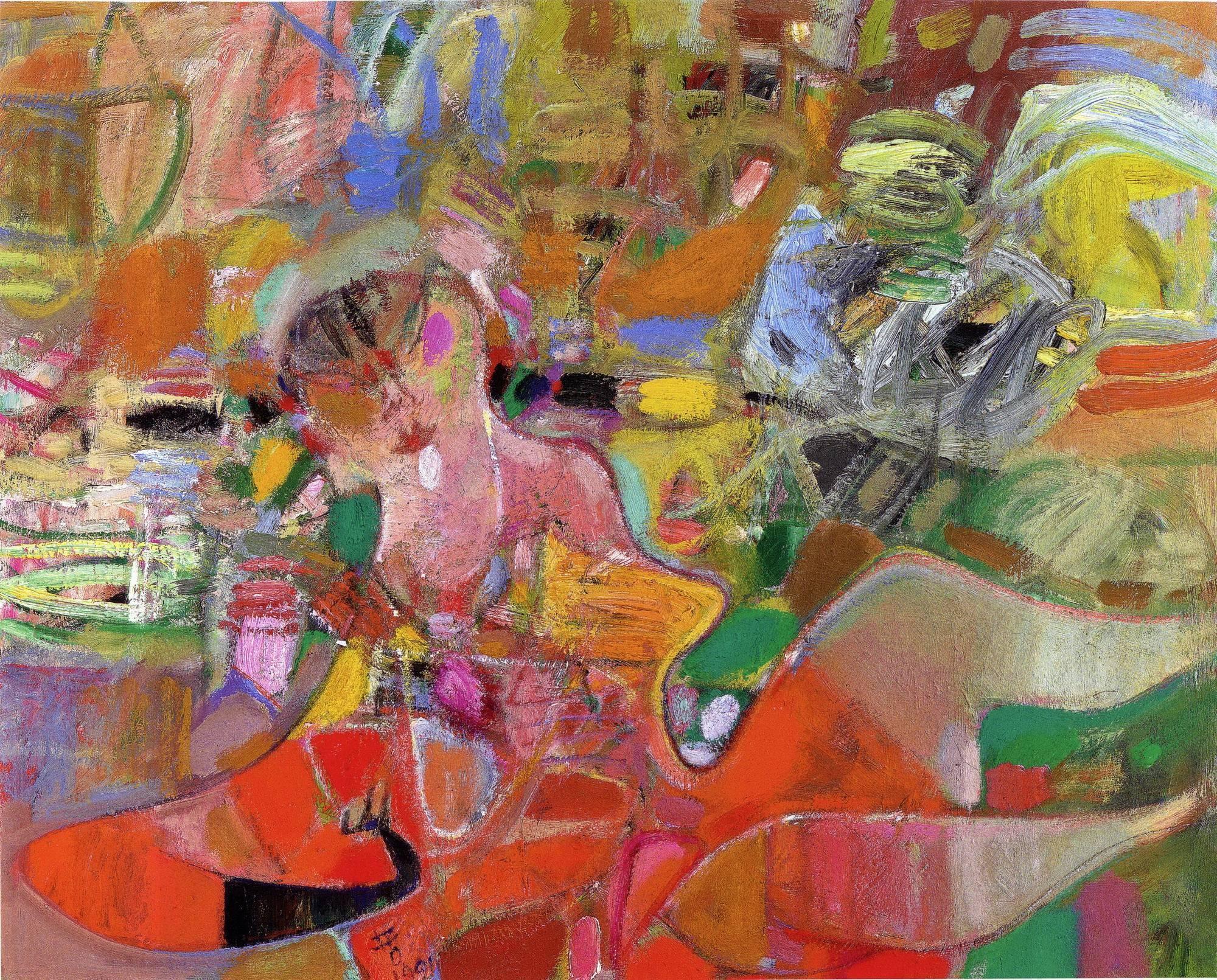 黃銘哲|東區的女人|1991|油彩|72.5x91cm