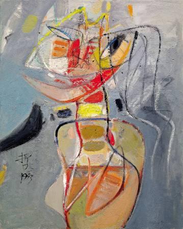 黃銘哲 東區的女人 1993 油彩 90x72cm