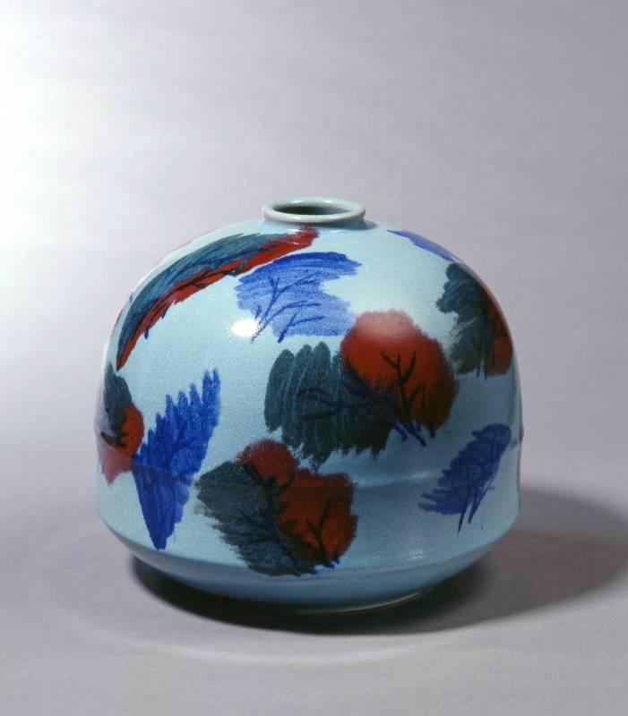細雨催秋|1990| 陶藝|28x28x24.5cm