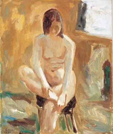 劉啟祥|裸女|1980|油彩|12F