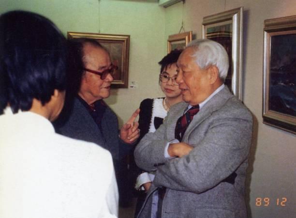 珍貴的歷史一刻,楊三郎與李石樵會面於印象畫廊。