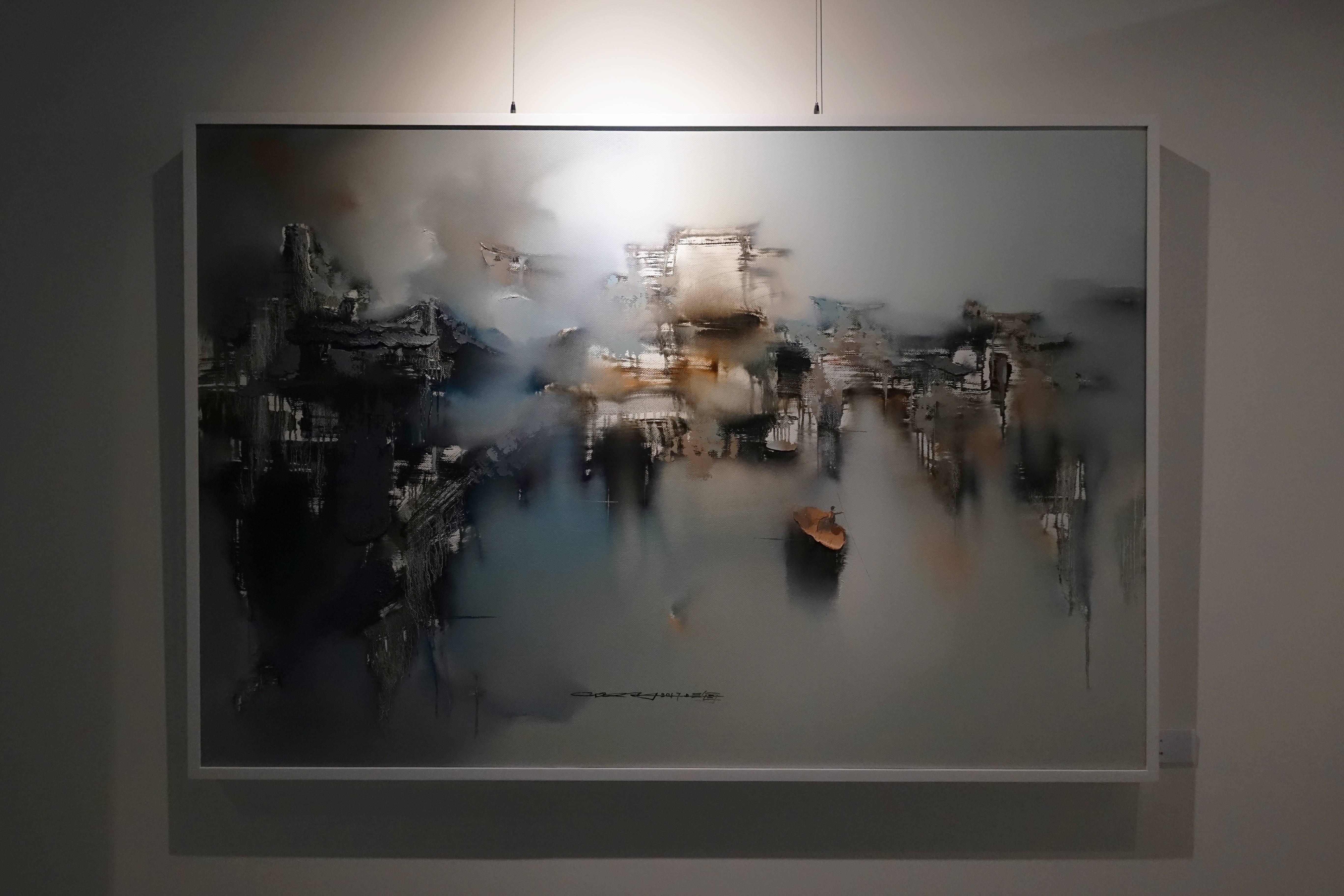 高小云,《蝶夢》,油畫畫布。