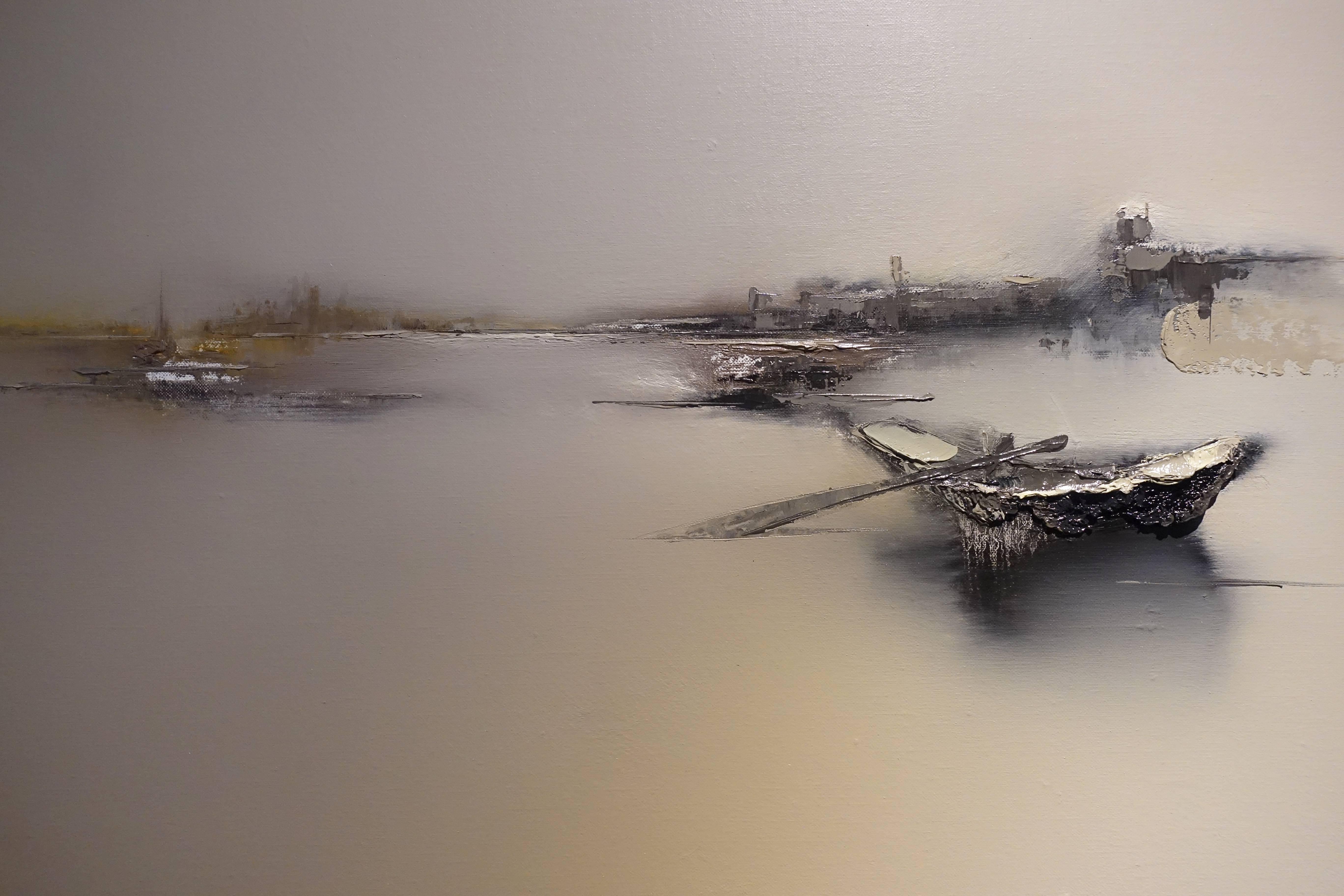 高小云,《歸來》局部,油畫畫布。