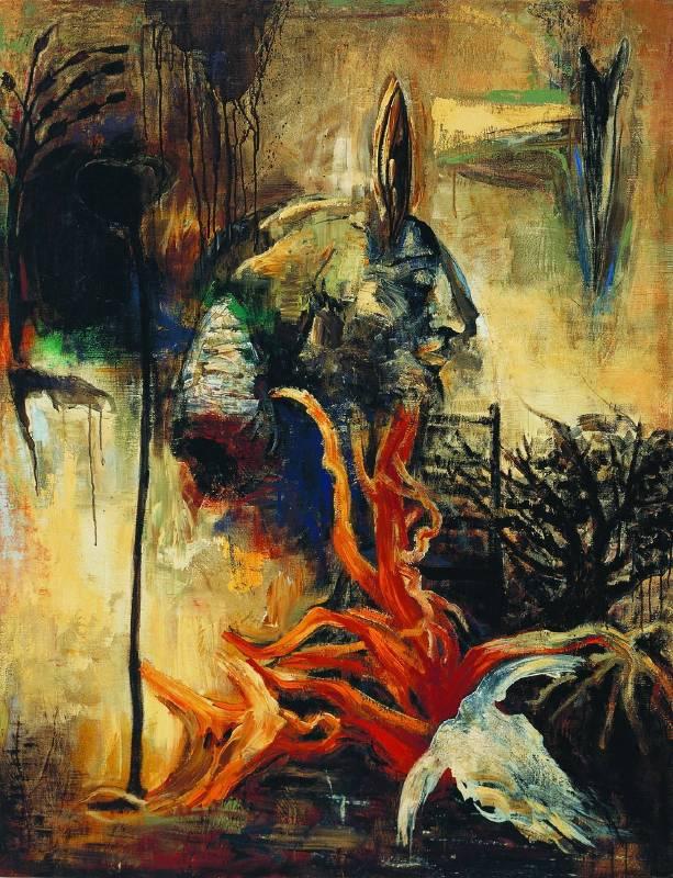 楊識宏|永恆的終點|1986|壓克力、油彩|152x198cm