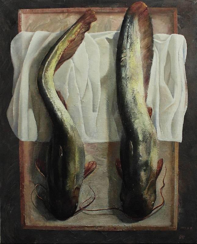 宋學智,鯰魚系列之三。圖/雅逸藝術中心提供
