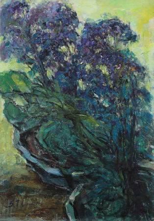 張自正,紫色夢。圖/雅逸藝術中心提供