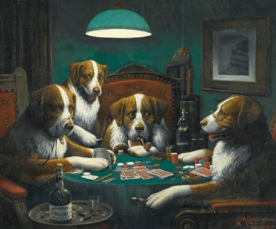 Poker Game。圖/取自wikimedia