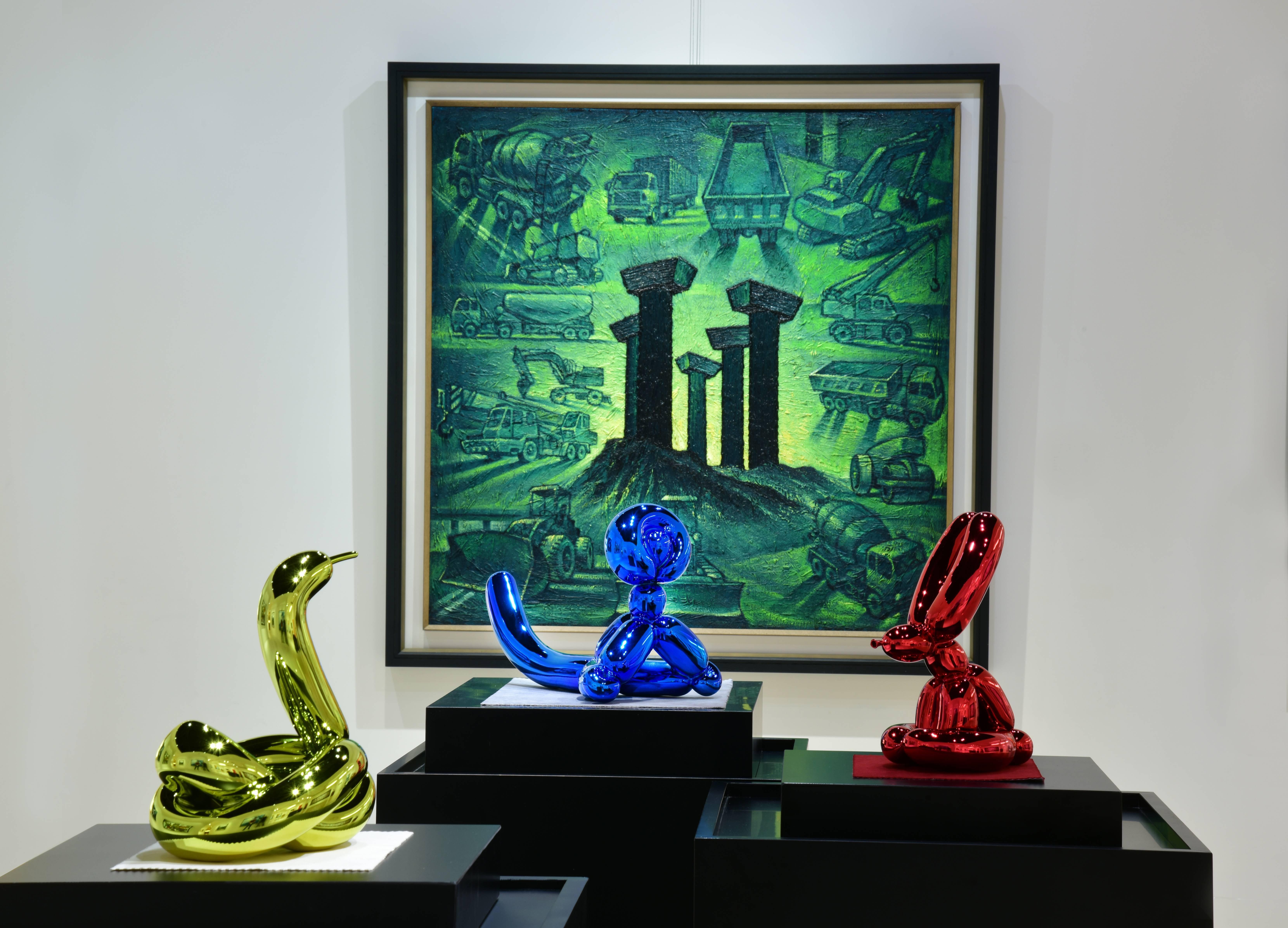 氣球動物系列展出於印象畫廊