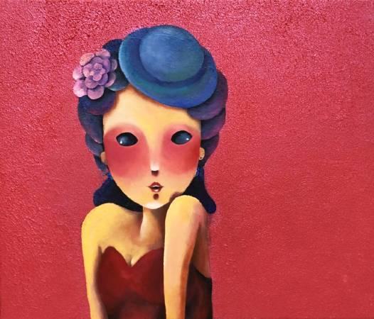 愛慕  Amour | 油畫 | 45.5x53cm | 2018