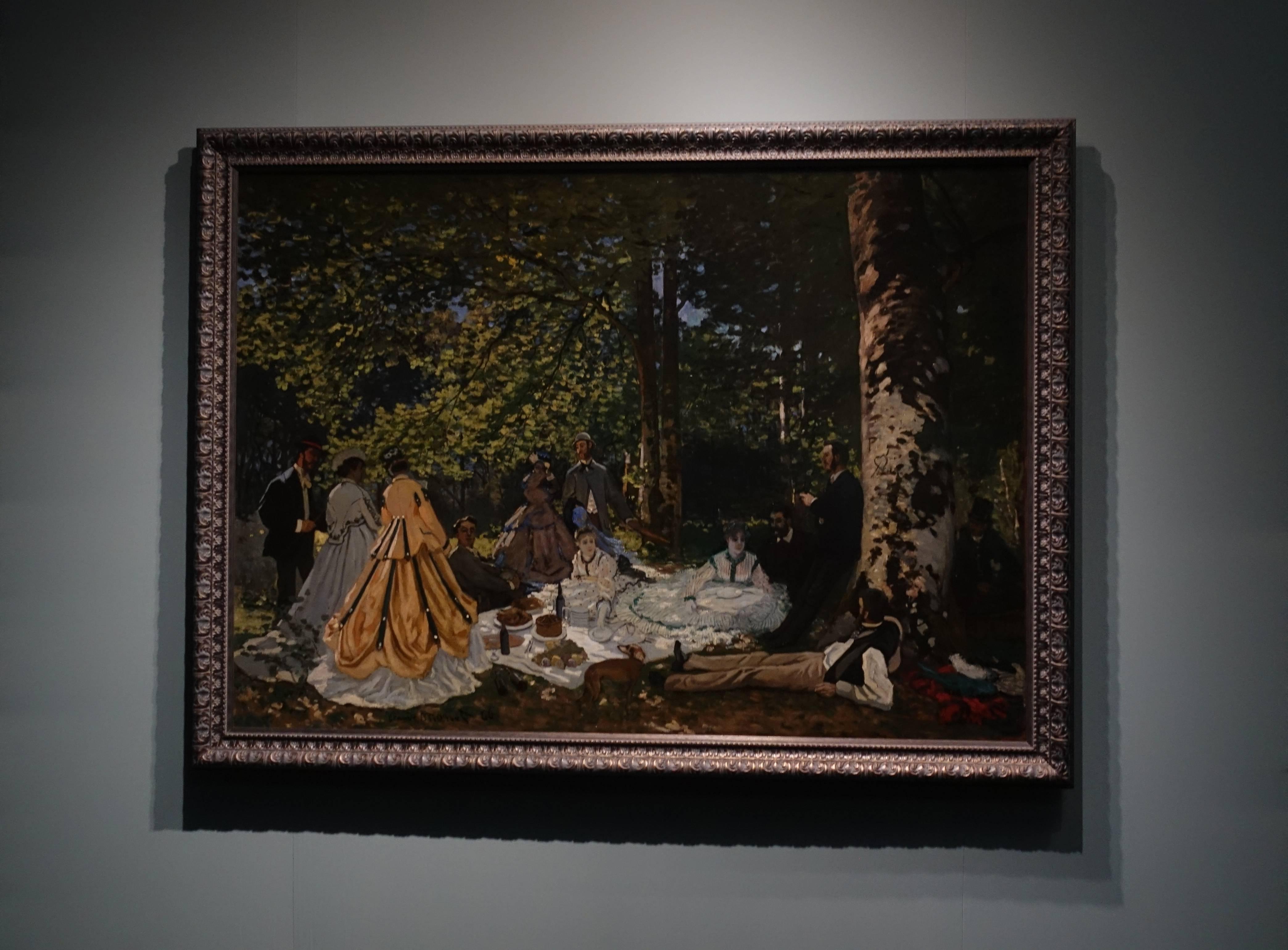 克勞德•莫內 Claude Monet ,《草地上的午餐LuncheonontheGrass》,油彩、畫布 Oil on canvas,1866。