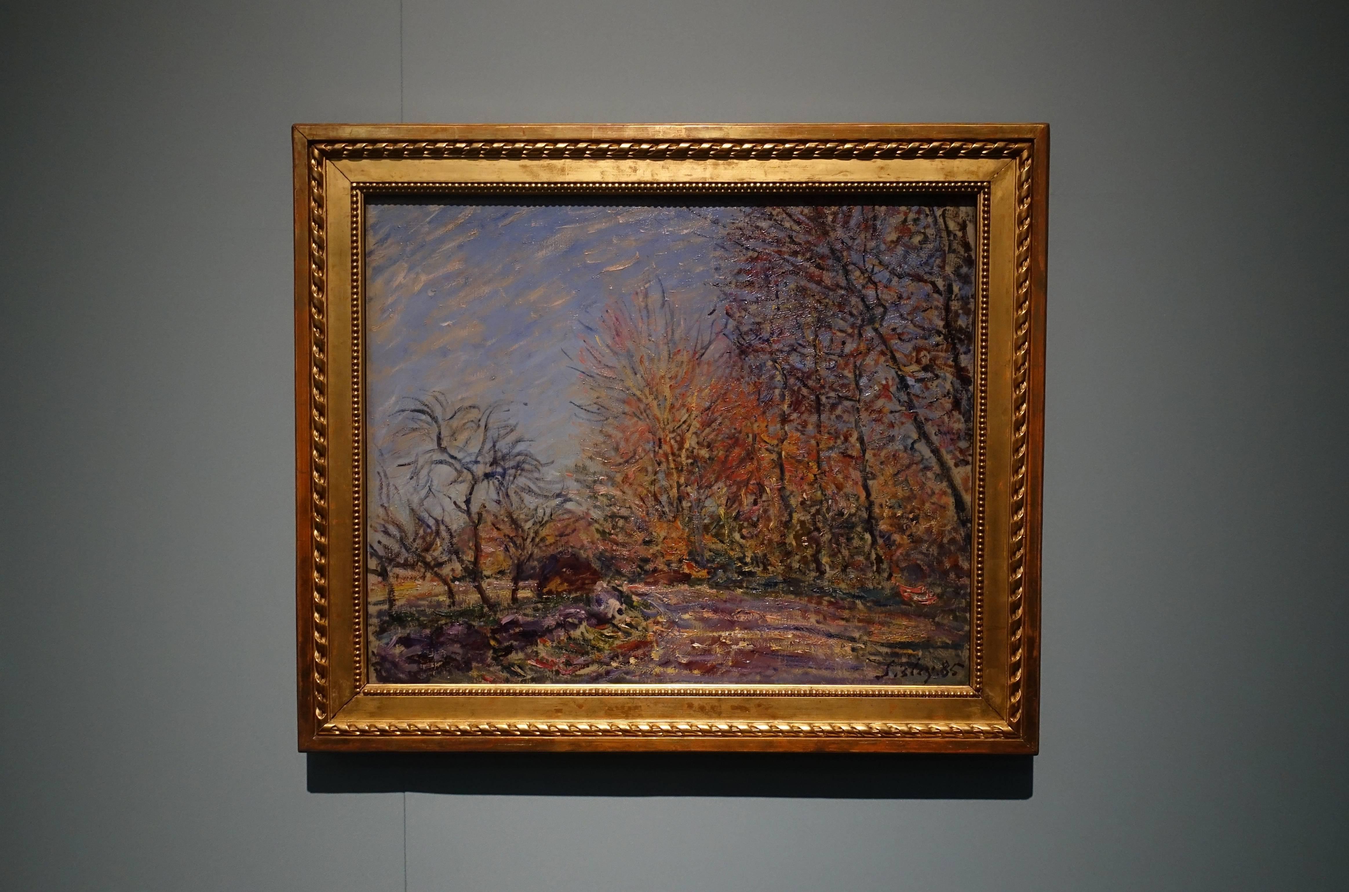 阿爾弗雷德•希斯萊 Alfred Sisley ,《楓丹白露森林邊際 Edge of the Forest of Fontainebleau》,油彩、畫布 Oil on canvas,1885。