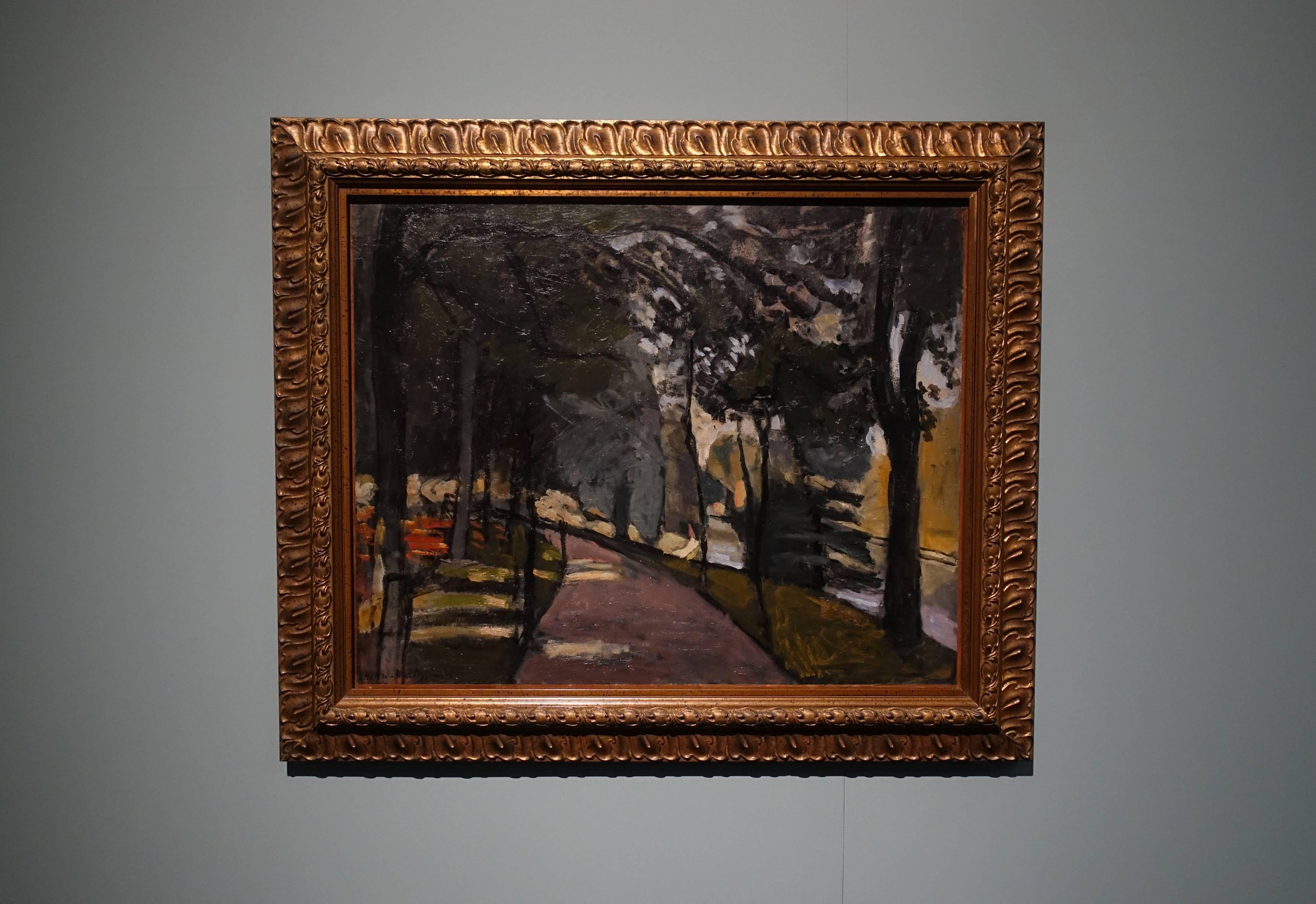 亨利•馬諦斯 Henri Matisse ,《布洛涅森林 Bois de Boulogne》,油彩、畫布 Oil on canvas,1902。