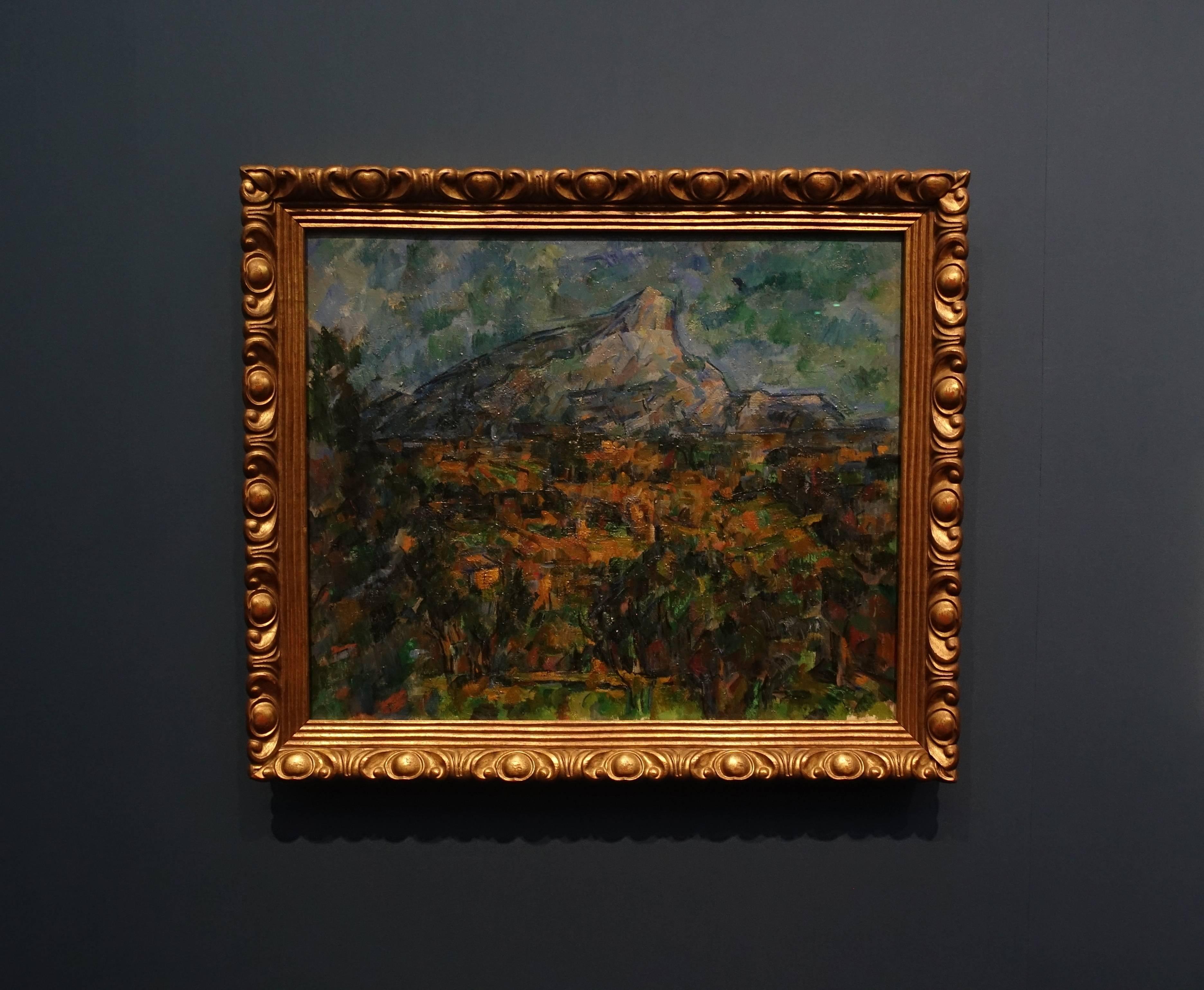 保羅•塞尚 Paul Cézanne,《從洛弗遙望聖維克多山 Mont Sainte-Victoire. View from Les Lauves》,油彩、畫布 Oil on canvas,1905。