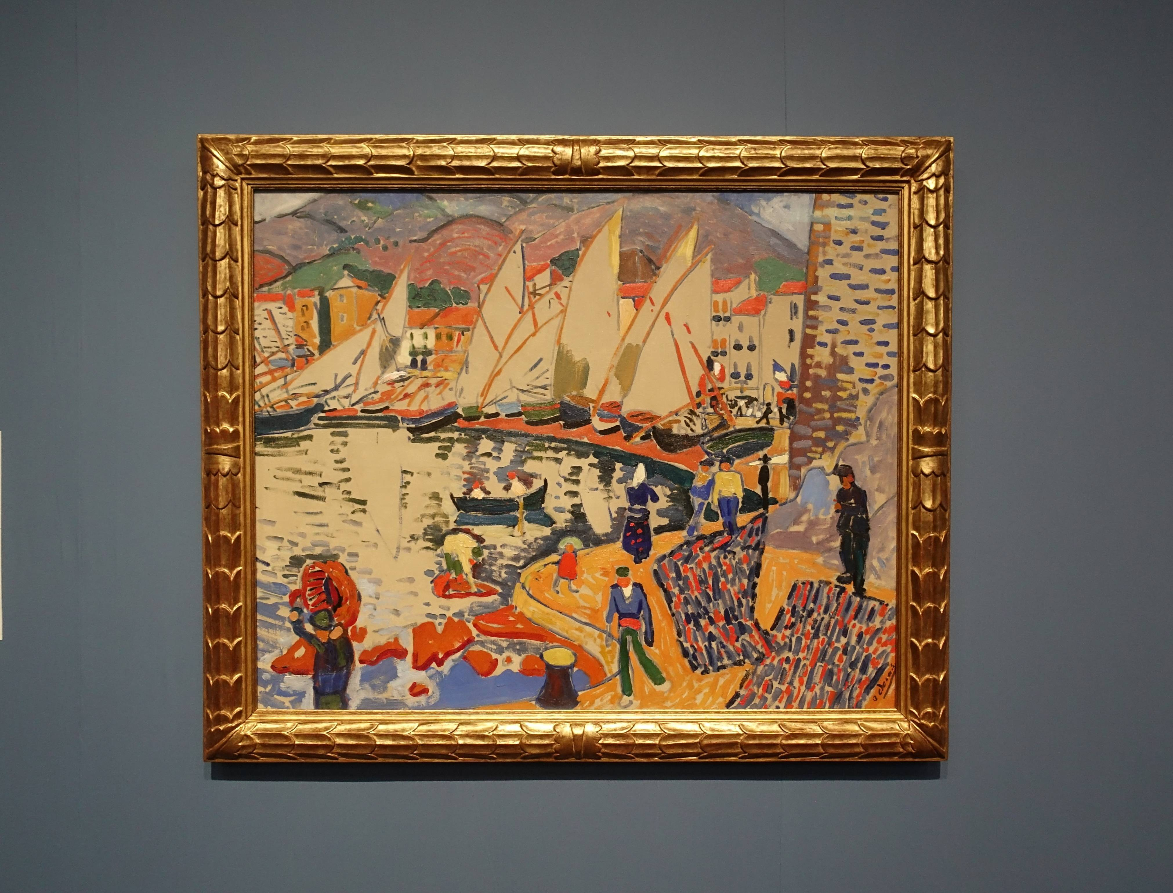 安德烈•德罕 André Derain,《曬船帆 Drying the Sails》,油彩、畫布 Oil on canvas,1905。