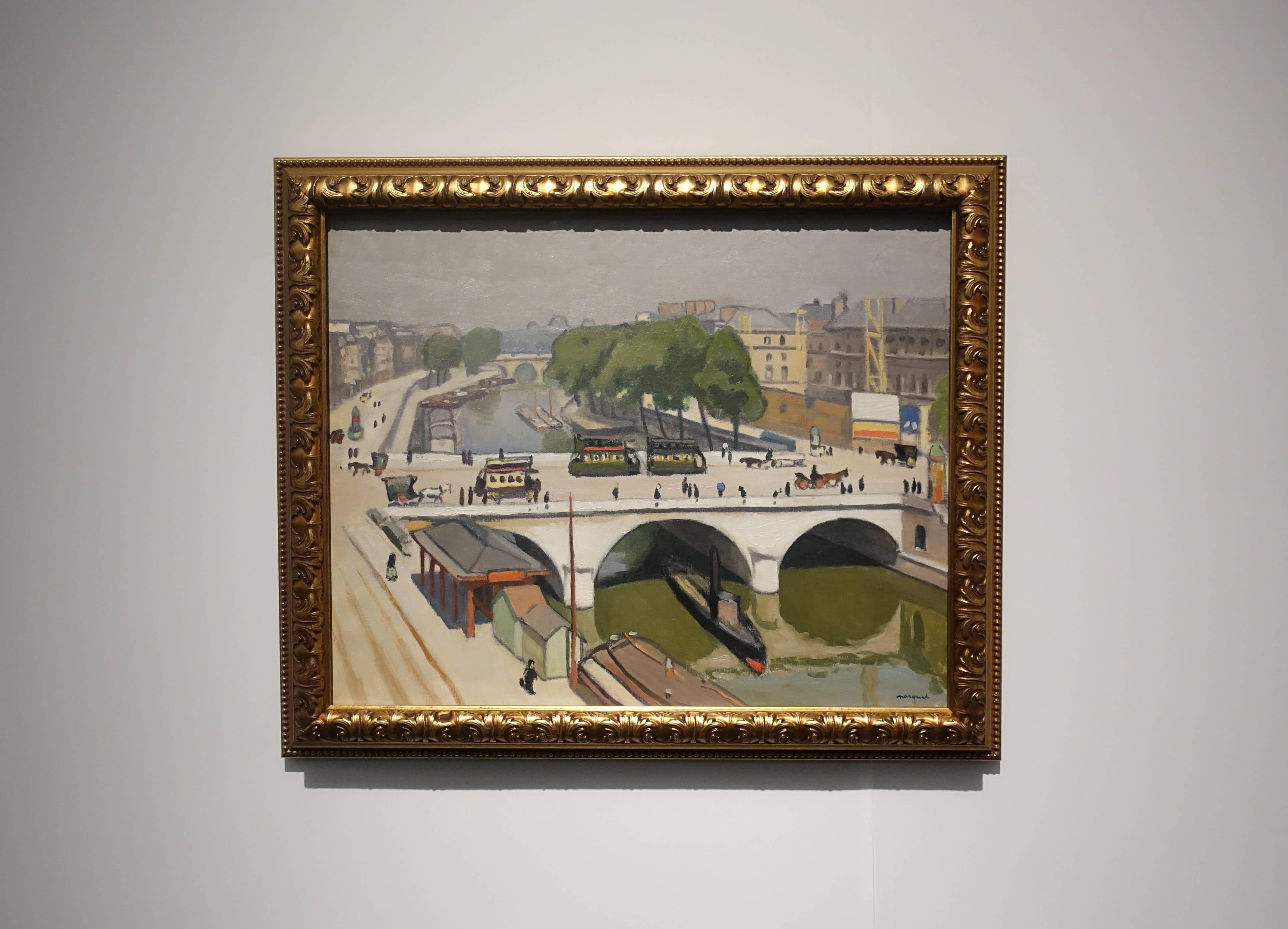 阿爾貝•馬爾凱 Albert Marquet,《巴黎聖米歇爾橋 Pont Saint-Michel in Paris》,油彩、畫布 Oil on canvas。