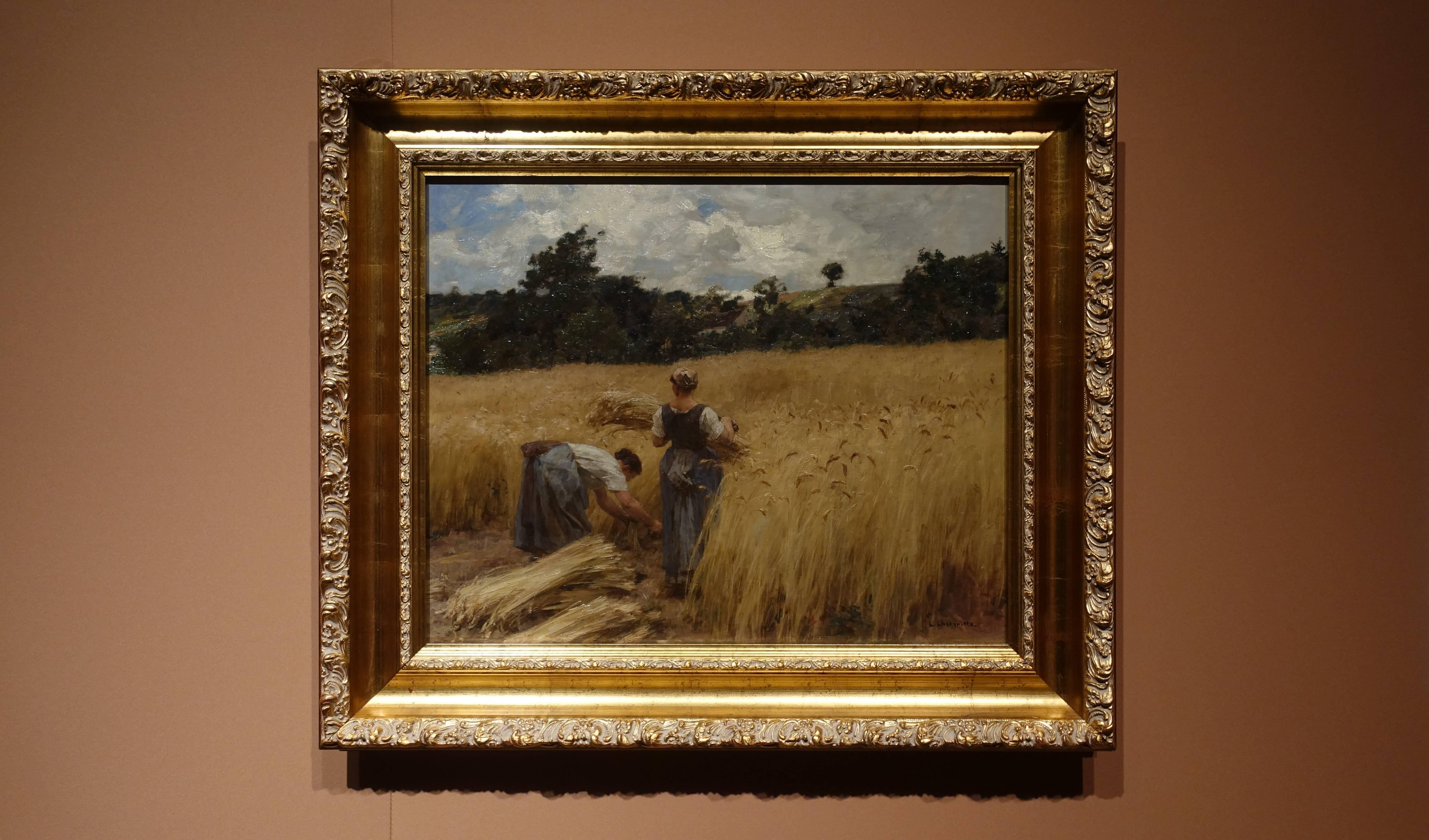 萊昂‧雷荷密特 Léon Lhermitte ,《收割者 Reapers》,油彩、畫布 Oil on canvas。
