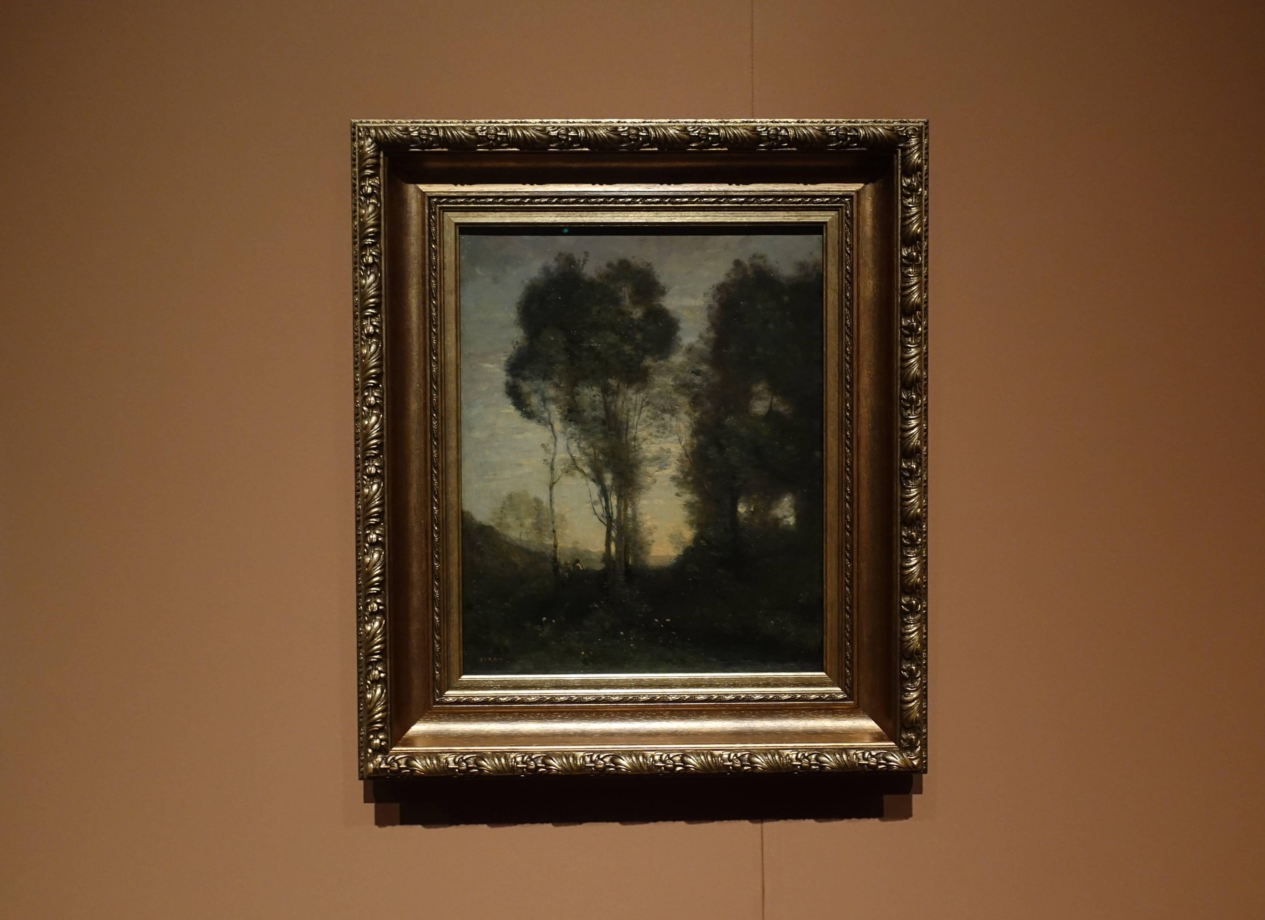 尚-巴蒂斯特•卡密爾•柯洛Jean-Baptiste-Camille Corot,《向晚 Evening》,油彩、畫布 Oil on canvas。