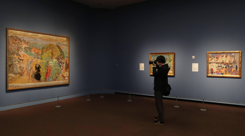 日本東京都美術館【普希金博物館繪畫特展-法國風景畫的旅行】展場一景。