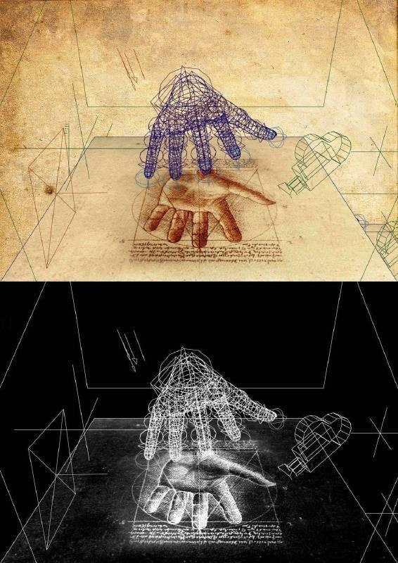 林珮淳 夏娃克隆創造文件-手部 III 2017 數位版畫、手繪線條 77.7×55cm